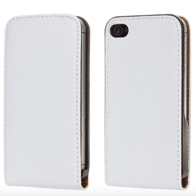 White Deluxe Leather Wallet Style Protective Case Cover Pouch for iphone 5 5G