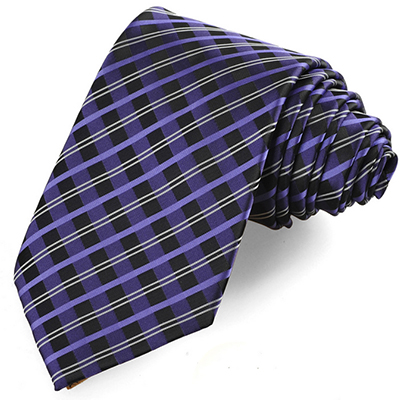 Lilac Purple Violet Cross Checked Pattern Men Tie Necktie Formal Suit Gift KT0039