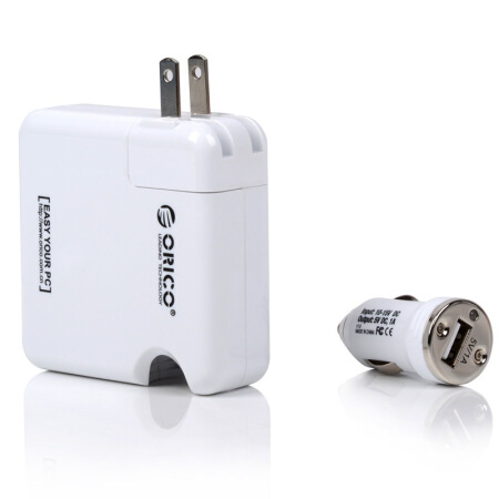 ORICO HCU-2A dual Port 5V1A/2.1A USB Car Charger and Wall Charger All in One  travel Charger