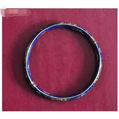 lazuli pinch wire bracelet elegant and high qulity 999 silver classica and retro style size 38*8mm