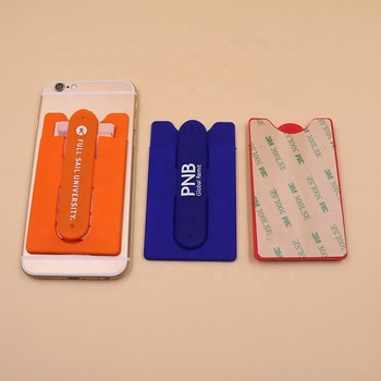 OEM/ODM custom universal promo silicone mobile phone card stand holder