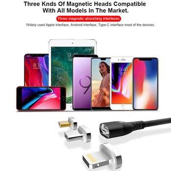 High speed 3 in 1 Data Sync Mobile Phone Charger USB Magnetic Charging Cable