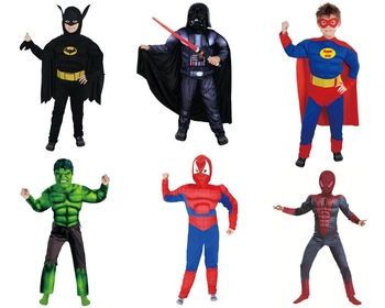 cosplay costume kids cape superhero party costume
