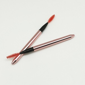 New style Retractable mascara wand extension Rose gold eyelash makeup brush with lid private label