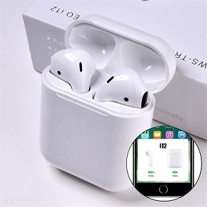 Newest i12 TWS Wireless headphones V5.0 Stereo earbuds Earphone In-Ear With Charging Box