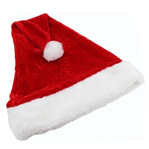 Christmas Party Props Christmas Ornaments Adult Gold Velvet Christmas Hats Santa Hats Cap